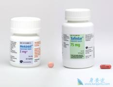 转移性非小细胞肺癌患者可使用达拉非尼联合曲美替尼治疗