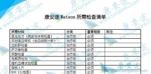 康安途Watson工智能肿瘤诊断看病实录(一)