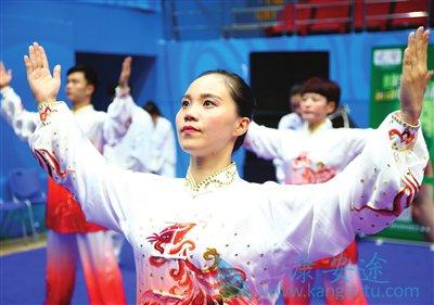 第十三届天津全运会上健身气功、五禽戏、舞